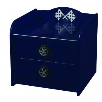 Formula Blue Bedside Cabinet