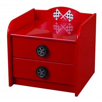 Formula Red Bedside Cabinet