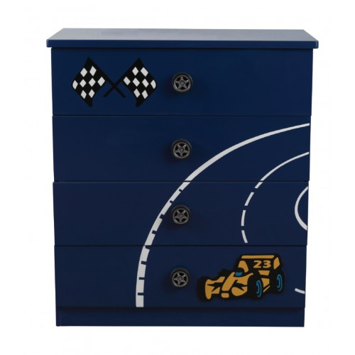 Formula Blue 4 Drawer Chest