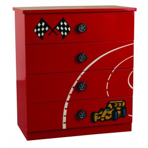 Formula Red 4 Drawer Chest