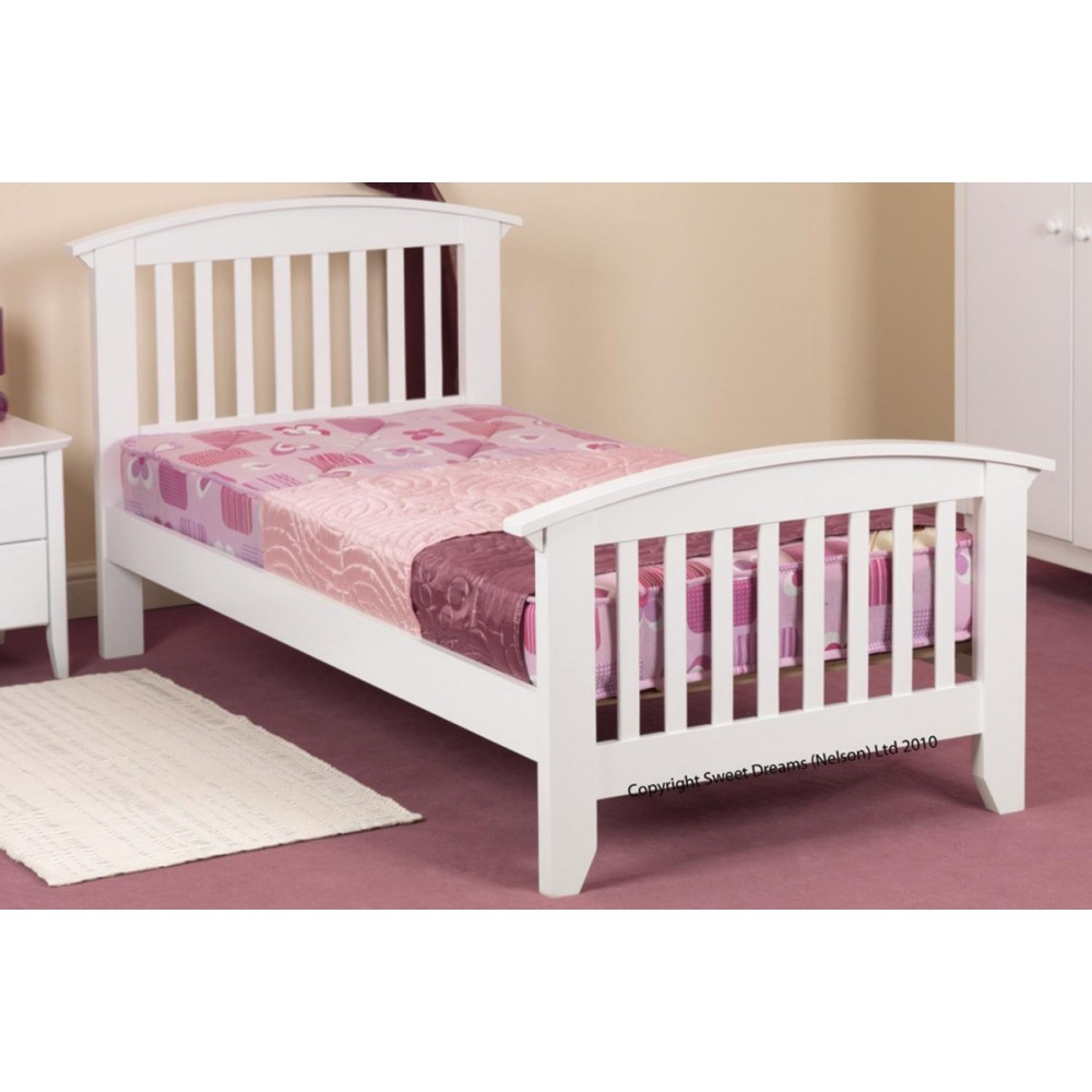 4ab65ccea441 Ruby White Bed Frame