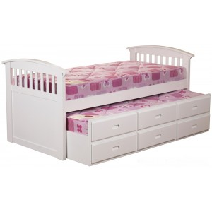 Ruby White Captains Bed *Low Stock - Selling Fast*