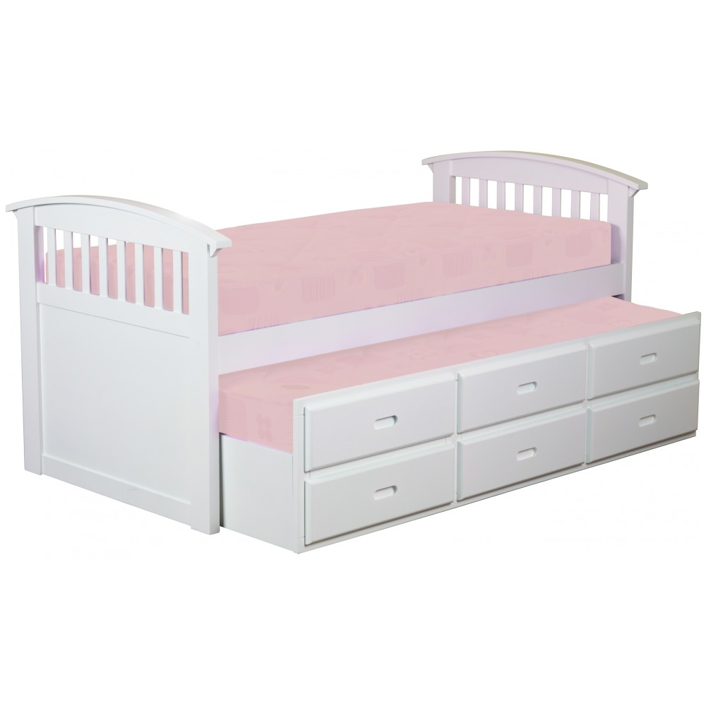6ddf03ac2aae Ruby White Captains Bed