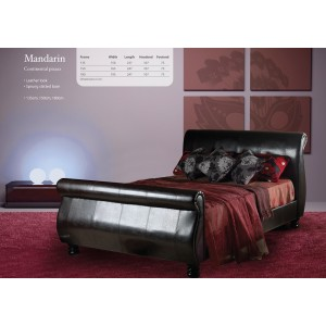 Mandarin Chocolate Sleigh Bed
