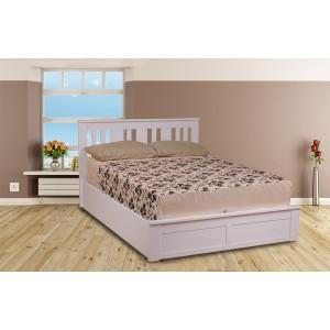 Coliseum White Ottoman Bed