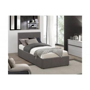 Berlin Grey Fabric Ottoman Bed