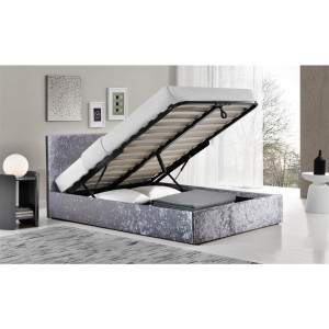 Berlin Steel Crush Ottoman Bed *4ft 6 & 5ft  Out of Stock - Back Soon*