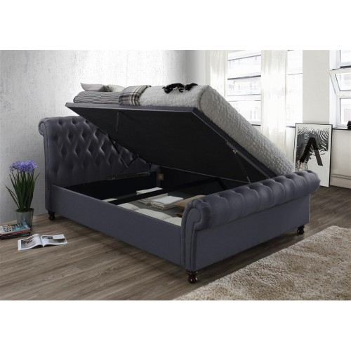 Castello Charcoal Ottoman Bed