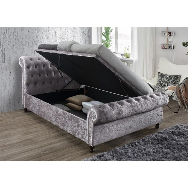 Castello Steel Crush Ottoman Bed