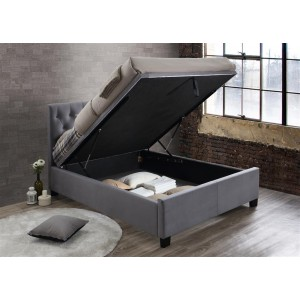 Cologne Grey Ottoman Bed