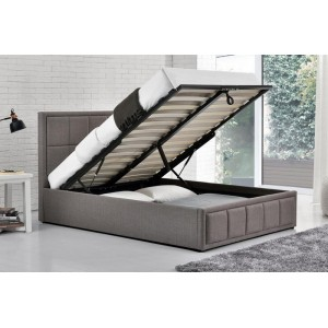 Hannover Grey Ottoman Bed