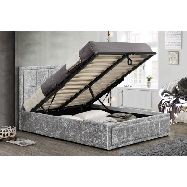 Hannover Steel Crush Ottoman Bed