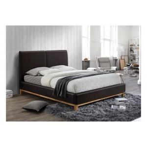 Helsinki Brown Leather Bed