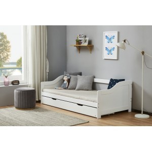Brixton White Guest Bed