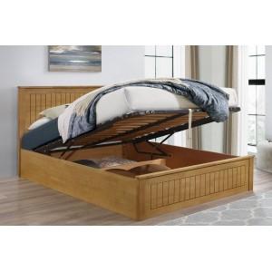 Fairmont Oak-Effect Ottoman Bed