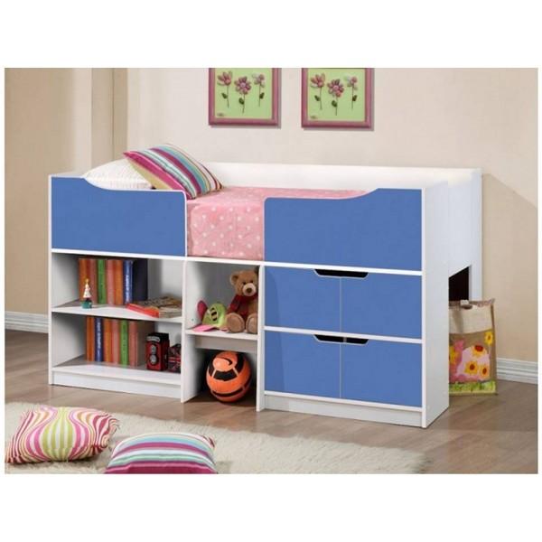 Paddington Blue & White Cabin Bed