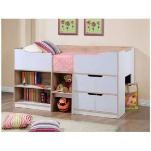 Paddington Oak & White Cabin Bed