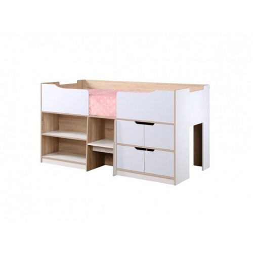 Paddington Oak & White Cabin Bed