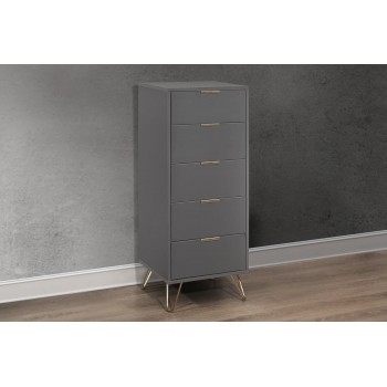 Arlo 5 Drawer Narrow Chest