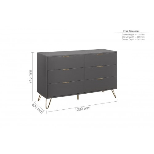 Arlo 6 Drawer Wide Chest