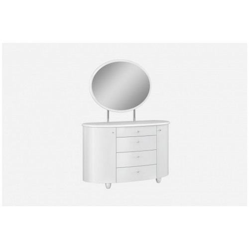 Aztec Highgloss Dresser with Mirror (Assembled)