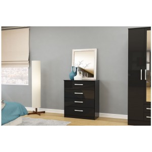 Lynx Black 4 Drawer Chest
