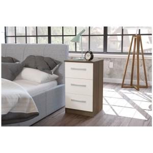 Lynx Walnut & Cream Bedside Cabinet