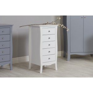 Paris White 5 Drawer Chest