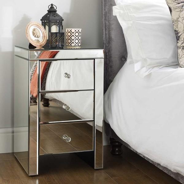 Seville 3 Drawer Bedside Cabinet (Assembled)