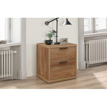 Stockwell 2 Drawer Bedside Cabinet
