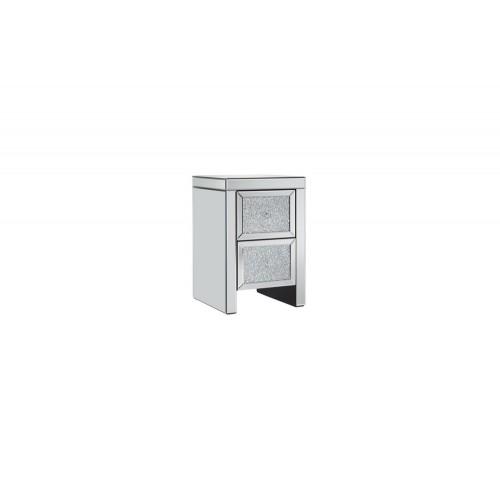 Vienna 2 Drawer Bedside Cabinet (Assembled)