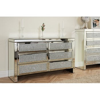 Vienna 6 Drawer Mirrored Chest (Assembled)