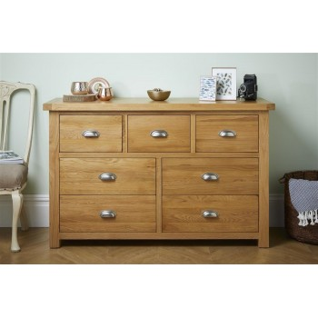 Woburn Oak 4+3 Drawer Chest (Assembled)