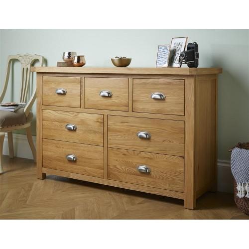 Woburn Oak 4+3 Drawer Chest (Assembled)