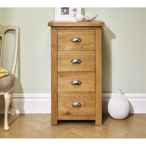 Woburn Oak 4 Drawer Chest