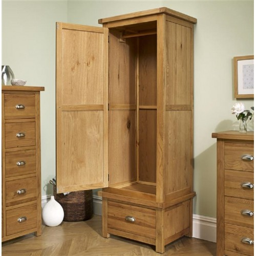 Woburn Oak 1 Door + 1 Drawer Wardrobe
