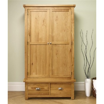 Woburn Oak 2 Door + 2 Drawer Wardrobe
