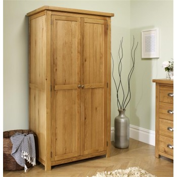 Woburn Oak 2 Door Wardrobe