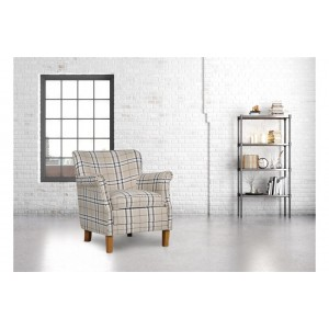Alderley Cream Check Armchair  *Out of Stock - Back Soon*