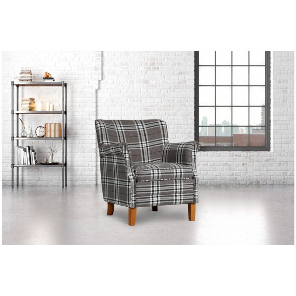 Alderley Grey Check Armchair *Out of Stock - Back Soon*