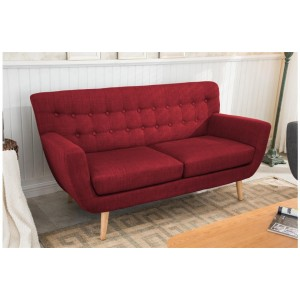 Loft Red 3 Seater Sofa