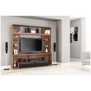 Aura Walnut & Black Entertainment Unit *Low Stock - Selling Fast*