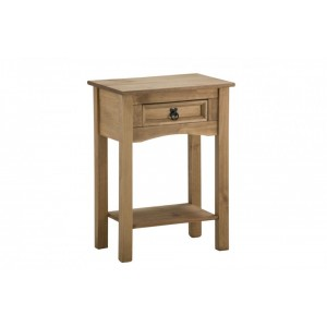 Corona Console Table with 1 Drawer + Shelf
