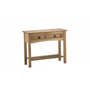 Corona Console Table with 2 Drawers + Shelf