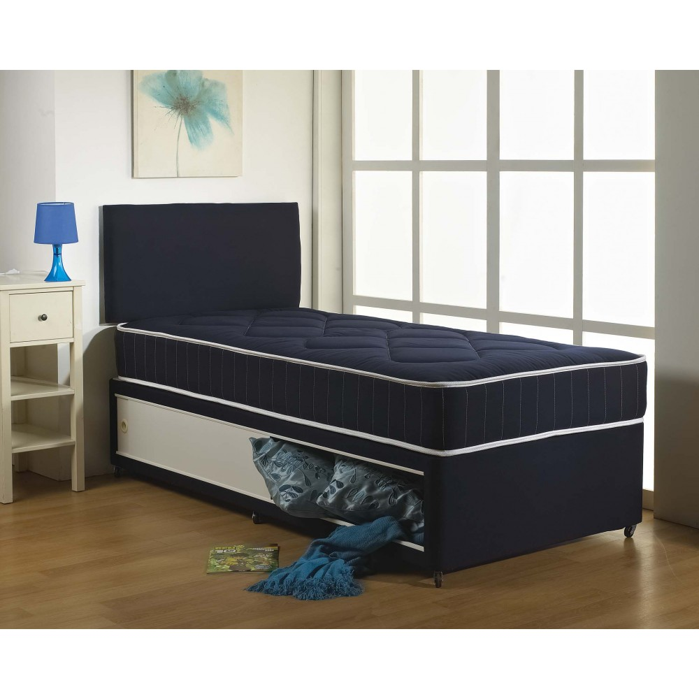 Blue Cotton Divan Bed