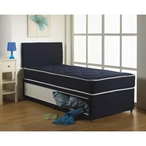 Kids Blue Cotton Divan Bed