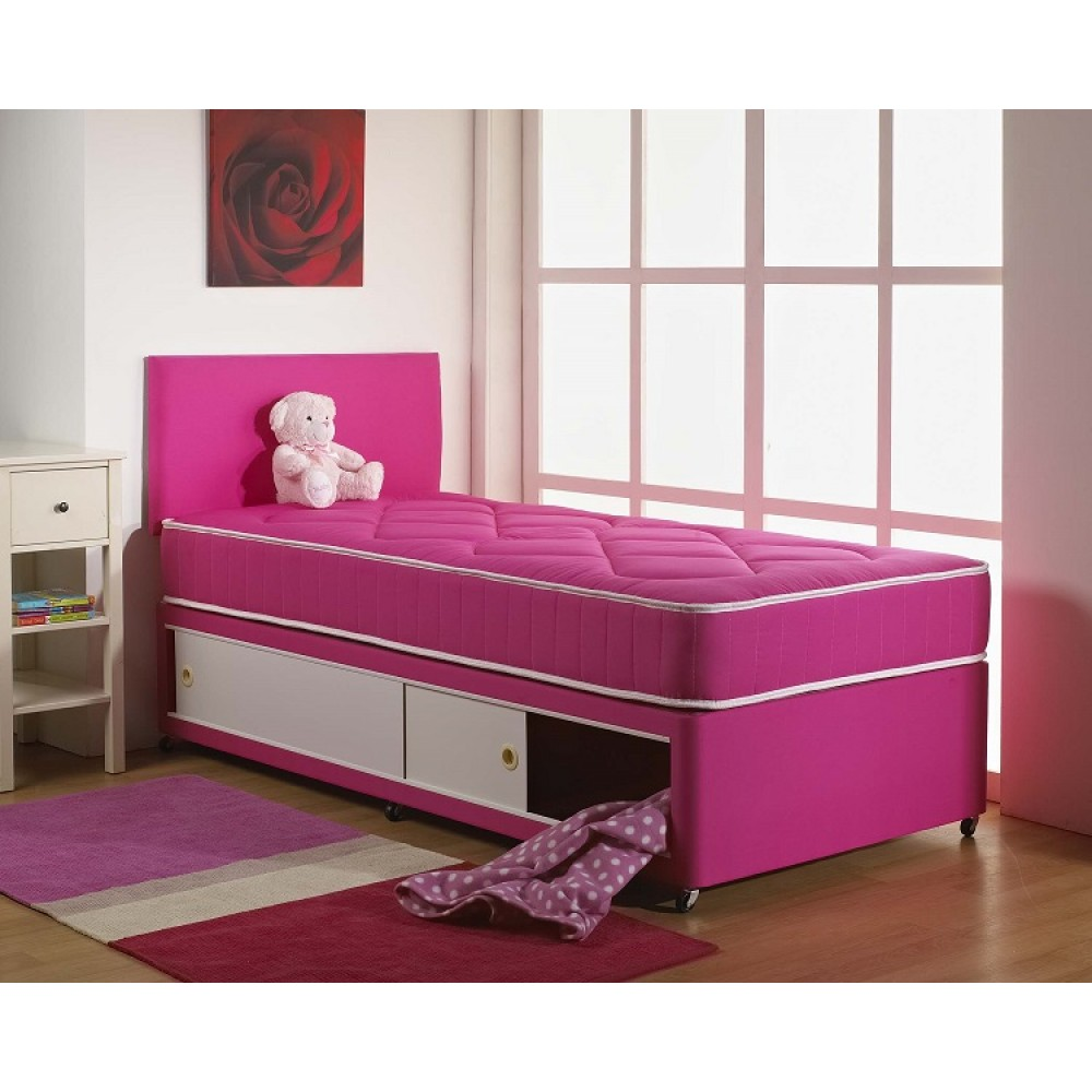 Pink Cotton Divan Bed