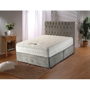 Silver Encapsulated Cool Blue Divan Bed