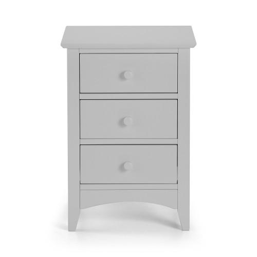 Cameo Grey 3 Drawer Bedside