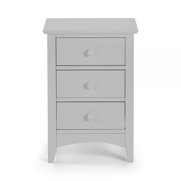 Cameo Grey 3 Drawer Bedside